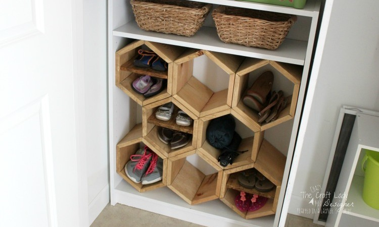 Hexagon DIY Shoe Rack
