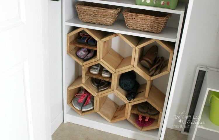 Hexagon diy shoe rack designer trapped in a lawyer 39 s body - Making use of small spaces decor ...