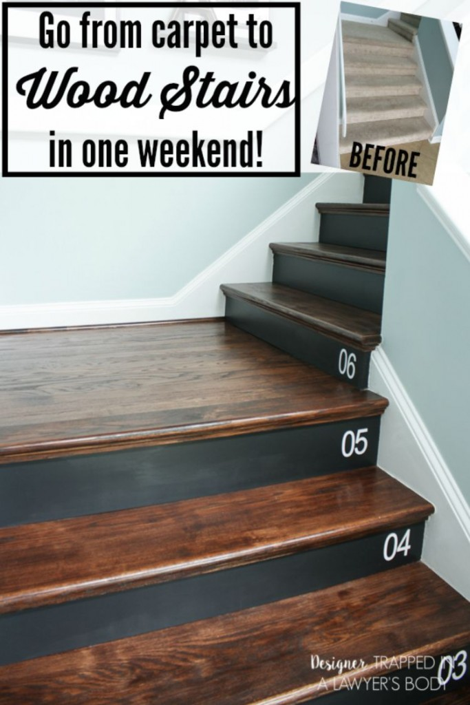 Diy staircase makeover Where did the saying knock on wood come from