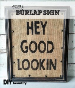 Create this cute burlap sign for any room in your home with this easy tutorial by DIY beautify!