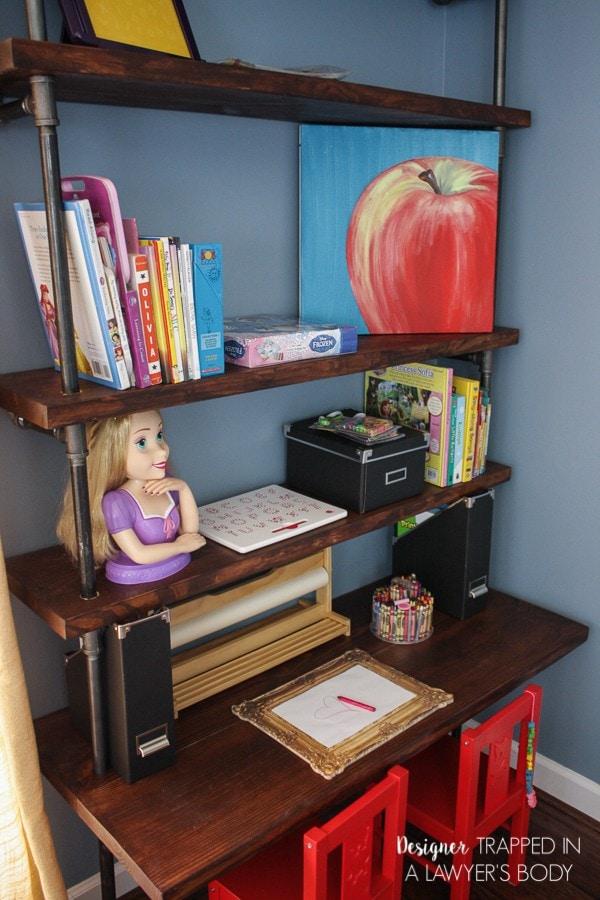 Diy Pipe Shelves And Built In Desks Kaleidoscope Living