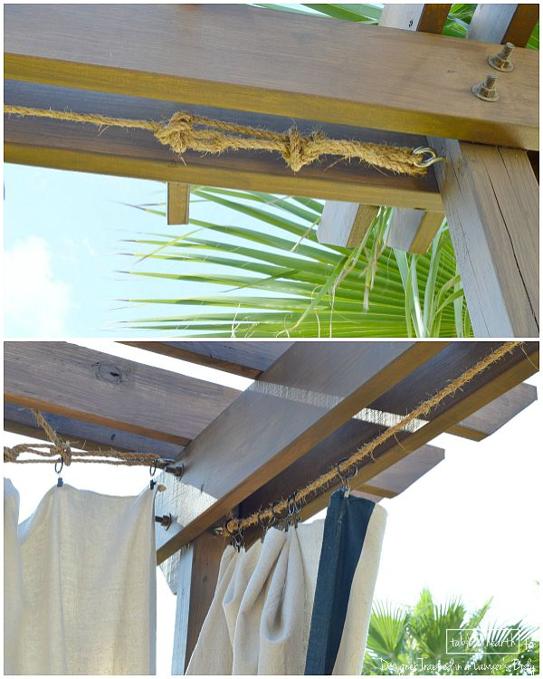 Make These Gorgeous DIY, No Sew Outdoor Curtains Without Spending A Ton