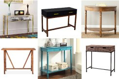 Affordable console tables DO exist! Check out these gorgeous options that are easy on your wallet.