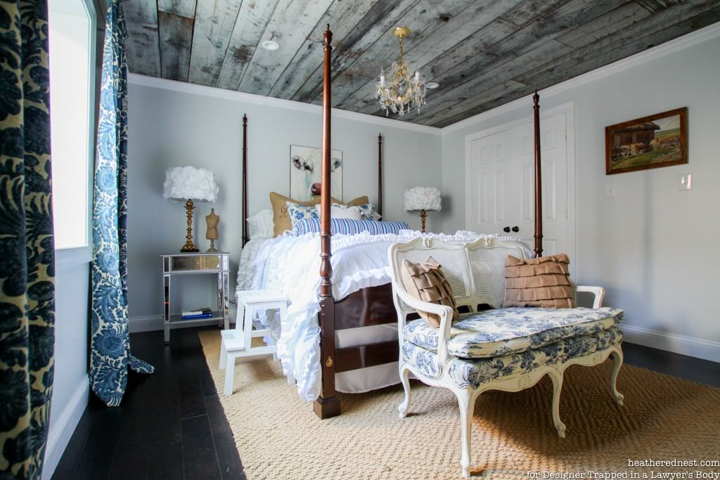 Don't forget the ceiling!  AWESOME, unique ceiling ideas from Heathered Nest for Designer Trapped in a Lawyer's Body.