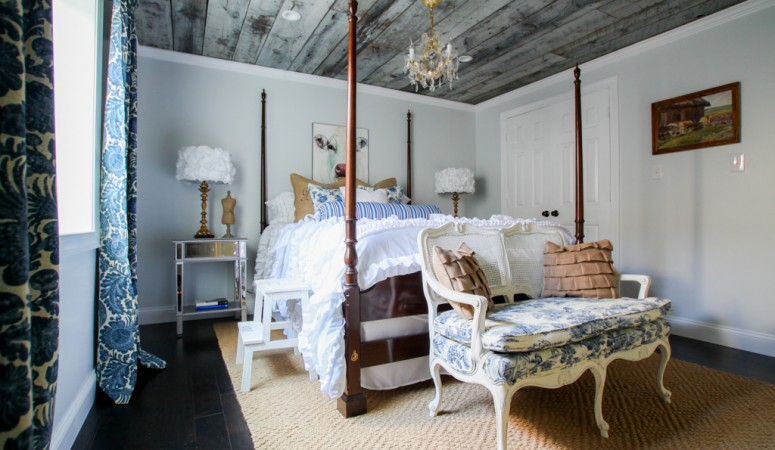 Don't Forget the Ceiling! Ceiling Treatment Ideas from Heathered Nest for Designer Trapped