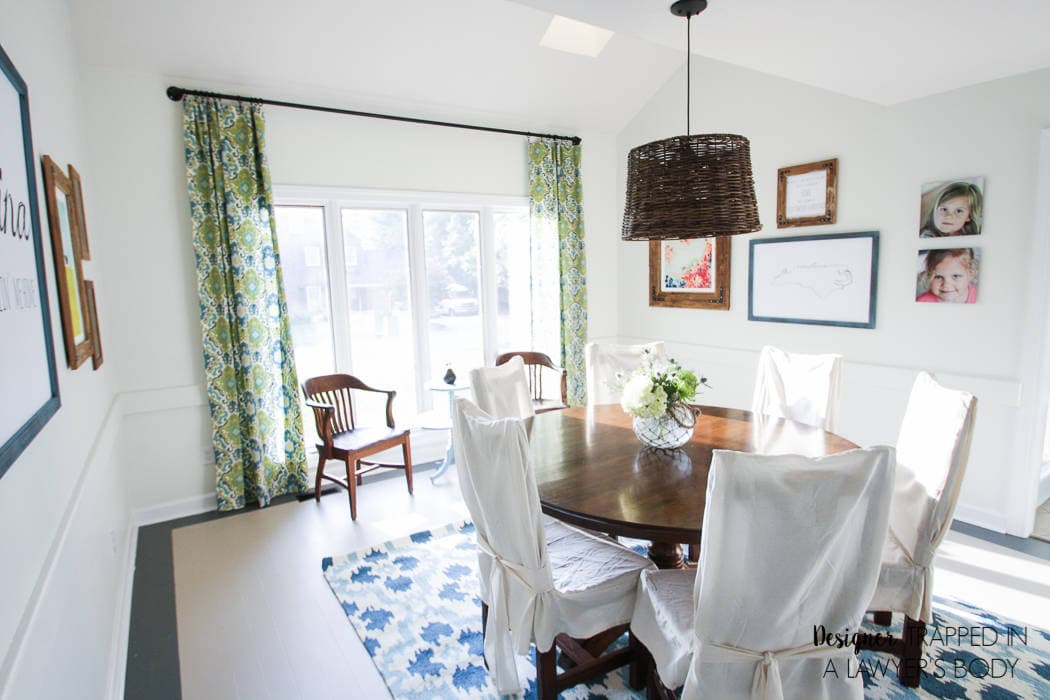 AMAZING, budget-friendly dining room makeover by Designer Trapped in a Lawyer's Body! There is so much texture and interest, and it didn't break the bank!