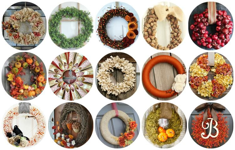 15 DIY Fall Wreaths that make my heart go pitter patter!