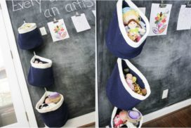 Easy, hanging toy storage!