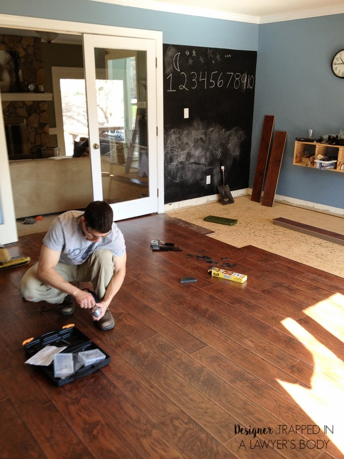 why we chose laminate flooring for our home designertrapped com