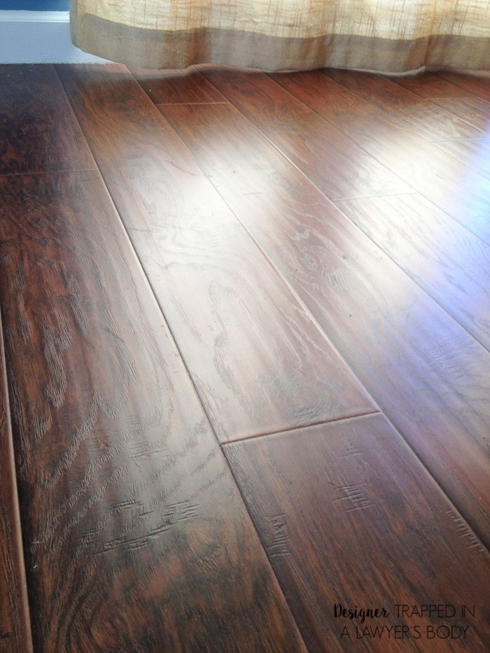 Why we chose laminate flooring for our home designer trapped for Why laminate flooring