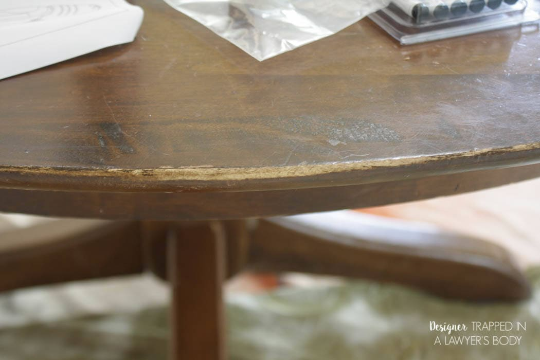 Learn how to refinish a table without sanding or stripping  I had no. How to Refinish a Table without Sanding   Stripping
