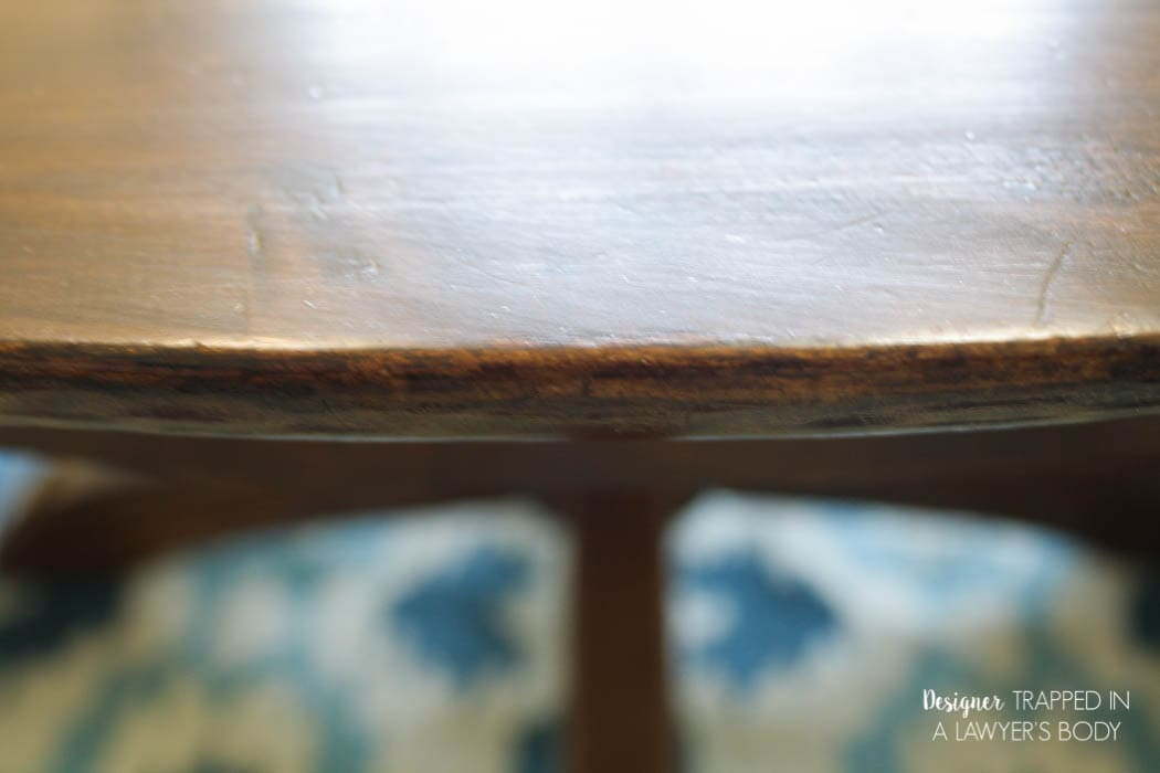 Learn How To Refinish A Table Without Sanding Or Stripping! I Had No