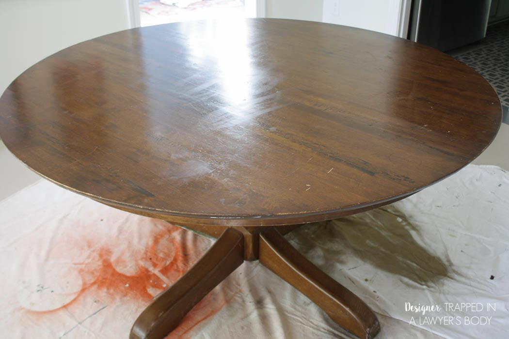 How to Refinish a Table {without sanding or stripping} | Designer ...