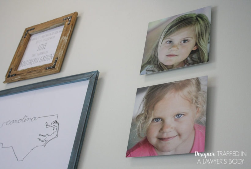 Dining Room Gallery Wall with Metal Photo Prints