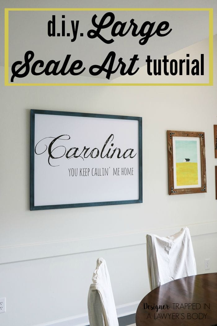 Diy Wall Art - Big Impact, Small Cost! | Designer Trapped