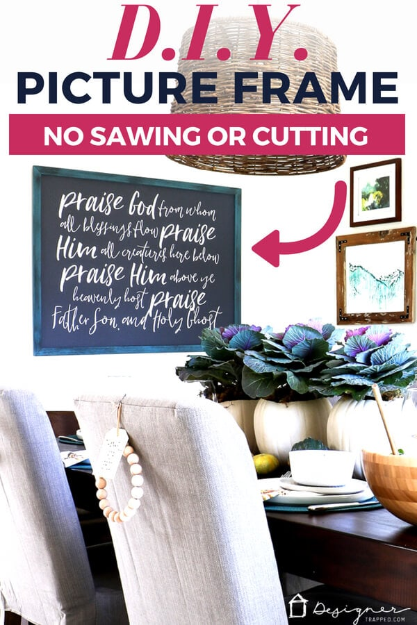 Diy Picture Frame No Sawing Or Cutting Required Designertrapped