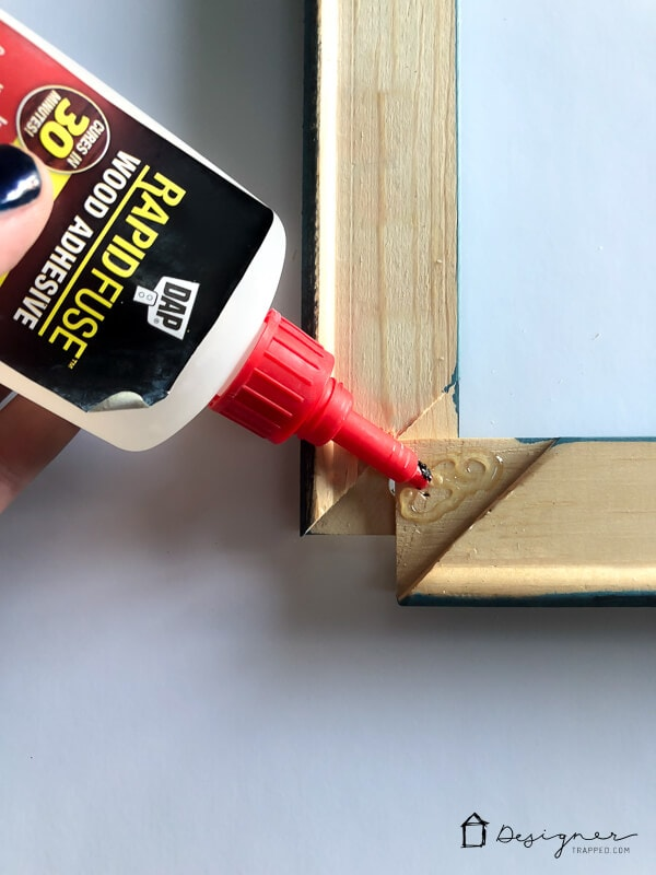 DIY picture frame assembly