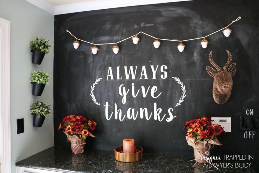 Fall Chalkboard Lettering