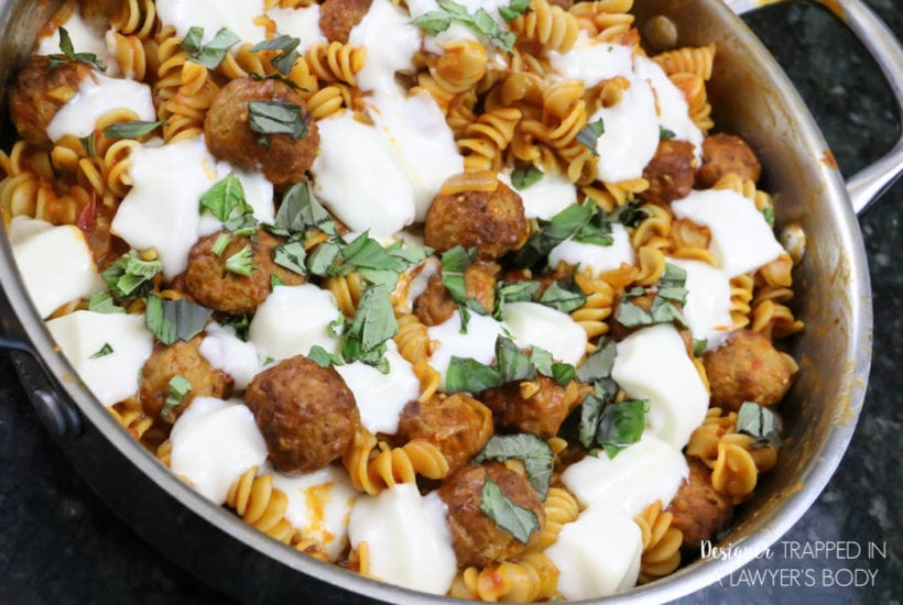 Quick and Delicious Skillet Pasta & Meatballs