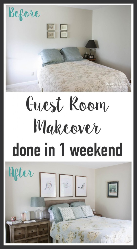 Guest room mini makeover designer trapped in a lawyer 39 s for Quick and easy room decor ideas