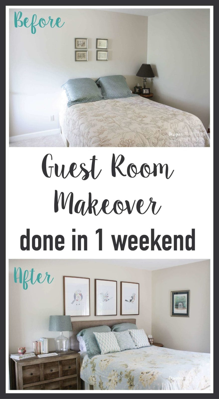 Guest House Room Design: Guest Room Mini-makeover!