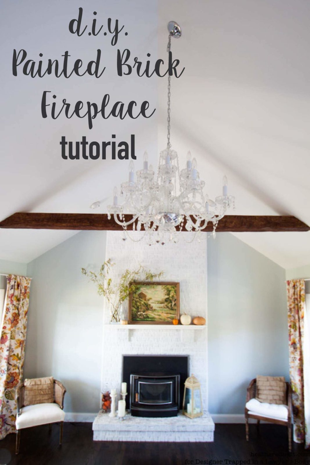 come learn how to paint a brick fireplace with this full tutorial itu0027s