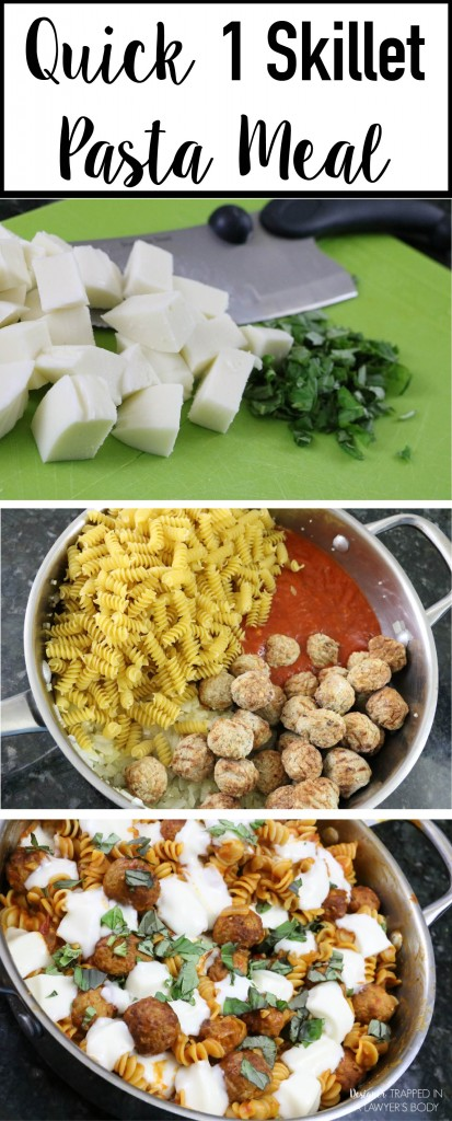 No time to cook? This easy one skillet pasta meal is quick and easy to make and your whole family will love it! #spon