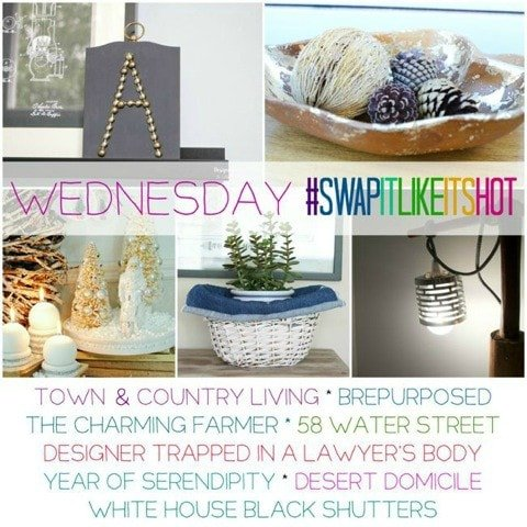 Swap It Like It's Hot Challenge! 40 Bloggers repurpose and reinvent thrift store/flea market finds!