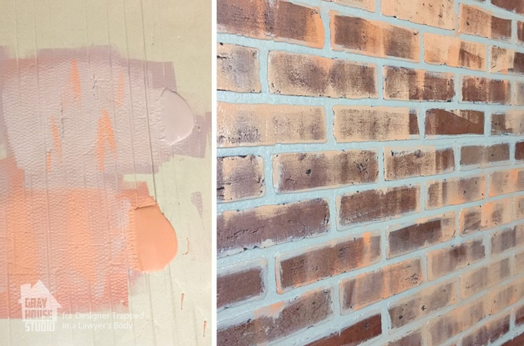 How To Paint A Faux Brick Wall Easy Diy Project