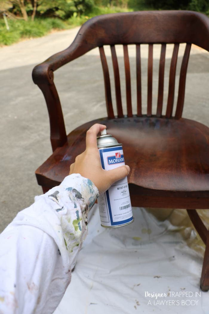 Learn how to refinish wood chairs without sanding or stripping the existing. How to Refinish Wood Chairs the Easy Way    Designer Trapped in a