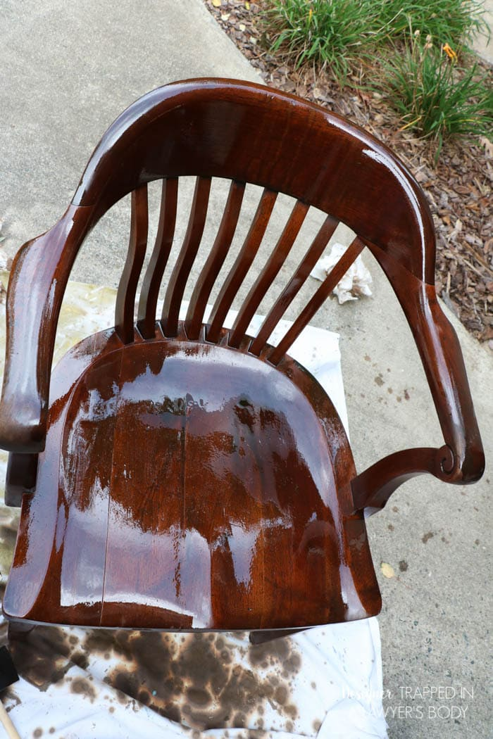 how to refinish wood chairs the easy way. Black Bedroom Furniture Sets. Home Design Ideas