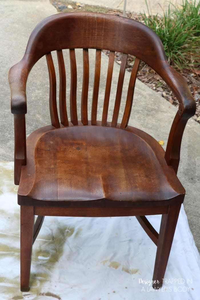 Learn how to refinish wood chairs without sanding or stripping the existing. How to Refinish Wood Chairs the Easy Way    Designertrapped com