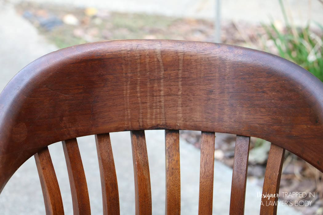 Learn how to refinish wood chairs without sanding or stripping the existing. How to Refinish Wood Chairs the Easy Way    Designer Trapped