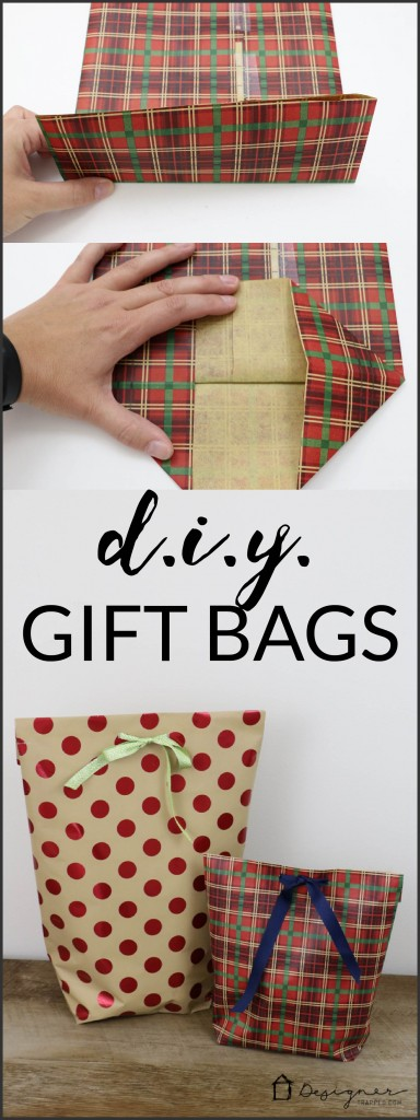 How To Make A DIY Gift Bag For Christmas | Designer Trapped
