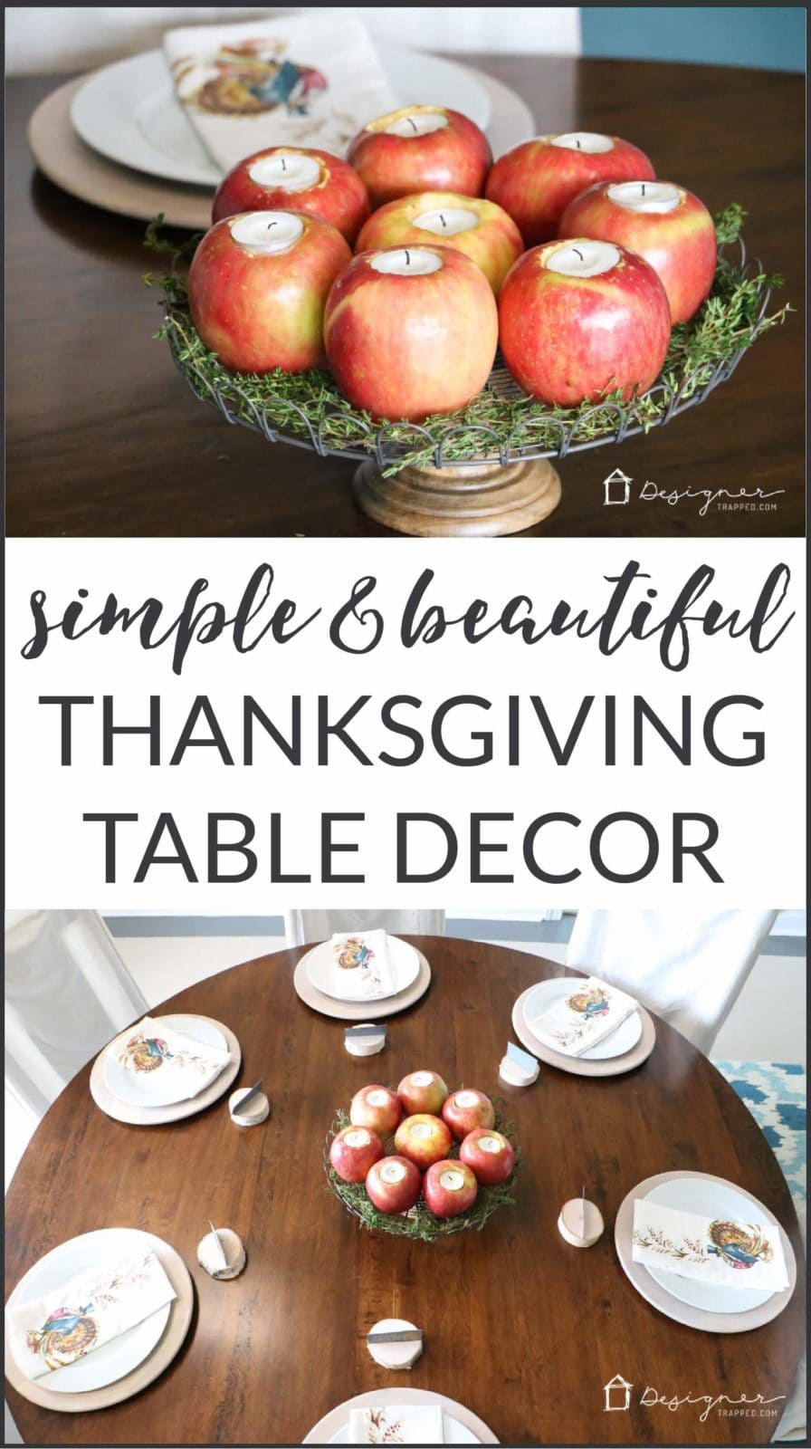 This bloggeru0027s Thanksgiving table setting is simple yet stunning. Come see how  sc 1 st  Designer Trapped in a Lawyeru0027s Body & Our Simple Thanksgiving Table Setting | Designer Trapped in a ...