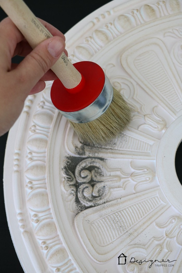 Diy Ceiling Medallion To Hide A Ceiling Flaw