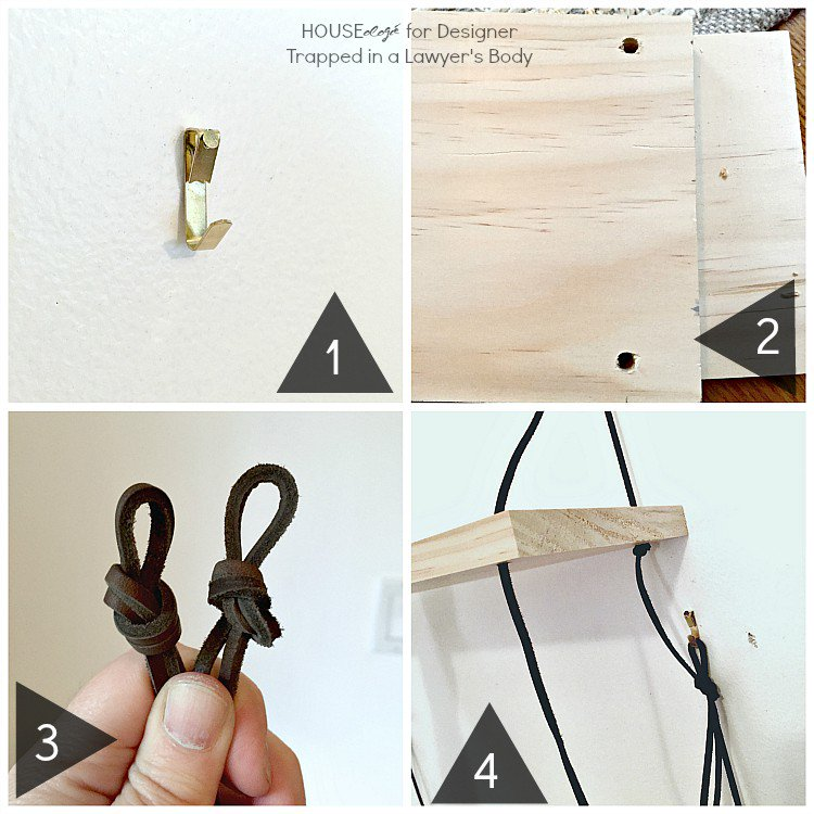 LOVE THIS! This DIY shelving using wood and leather is absolutely fabulous, and so easy to make. Great beginner project. Full tutorial by Houseologie for Designer Trapped in a Lawyer's Body.