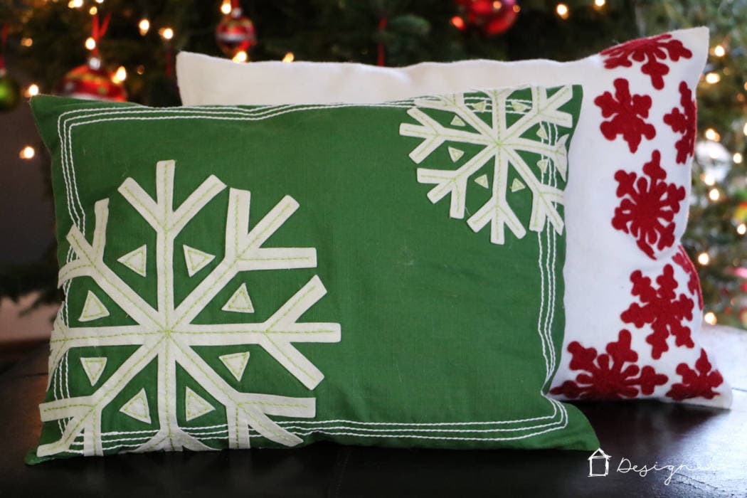 DIY Christmas Pillows from Placemats