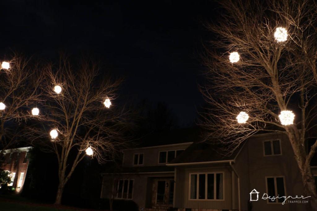 come learn how to make lighted christmas balls with this - Christmas Light Balls For Trees