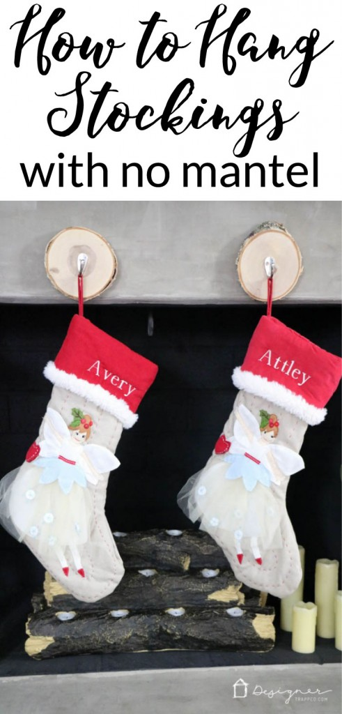 learn where to hang stockings when you dont have a mantel