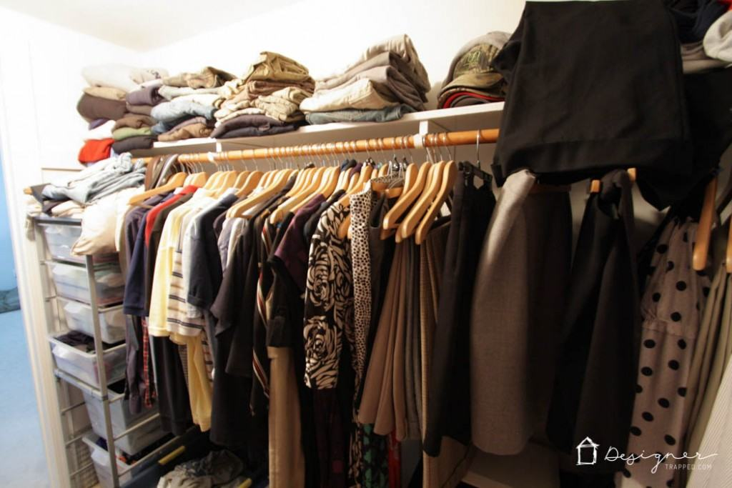WOW! Come learn how to organize your closet in 2 hours or less with these simple and practical tips! You don't need a fancy closet system to do this!