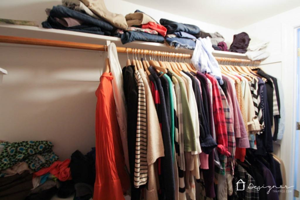 How To Organize Closet how to organize your closet in 2 hours or less! | designer trapped