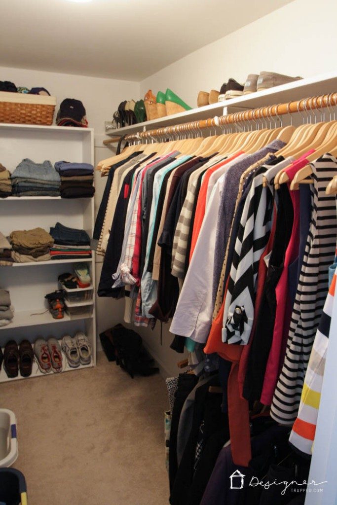 how to organize your closet in 2 hours or less. Black Bedroom Furniture Sets. Home Design Ideas