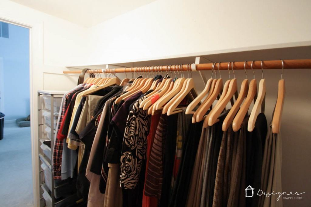 How To Organize Your Closet how to organize your closet in 2 hours or less! | designer trapped