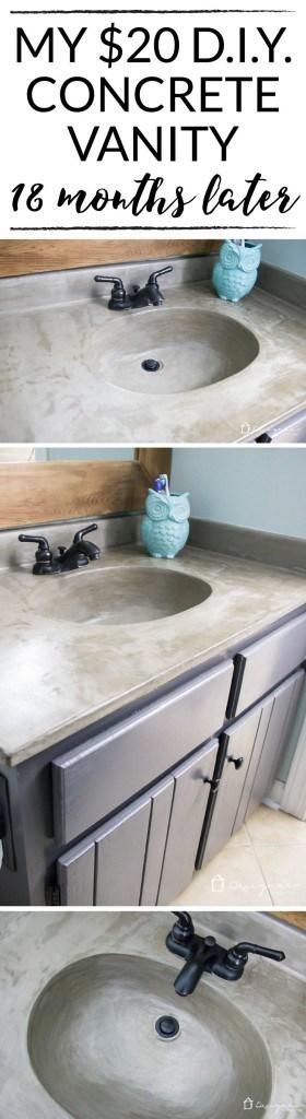 Concrete Vanity Tops : How s it holding up diy concrete vanity update