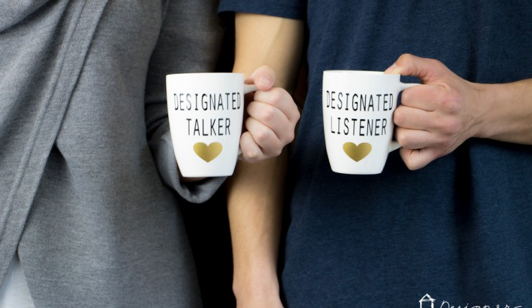 DIY His and Hers Mugs {with a sense of humor}