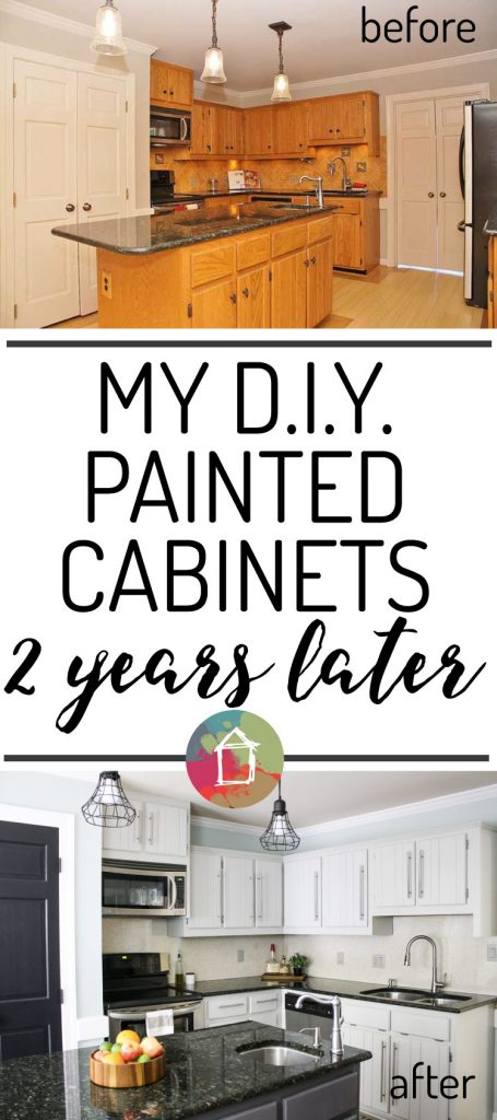 How's It Holding Up? DIY Painted Kitchen Cabinets Update ...