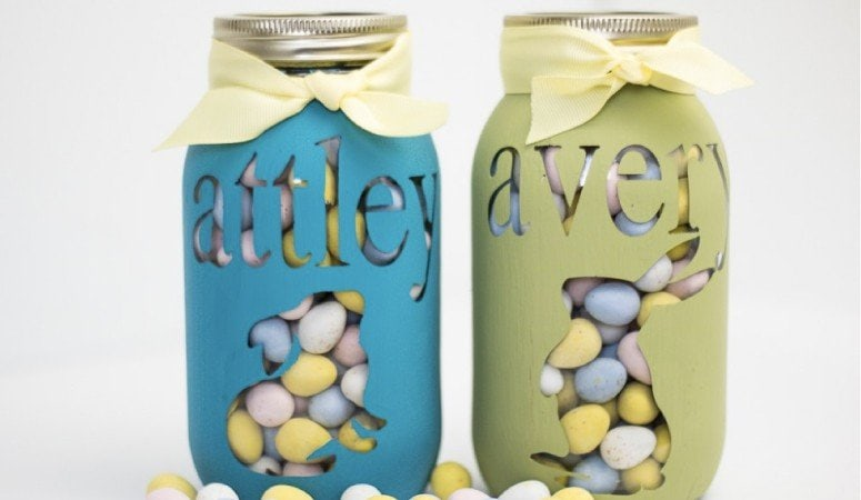 DIY Personalized Mason Jar Tutorial