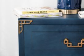 Campaign Bedside Table Makeover