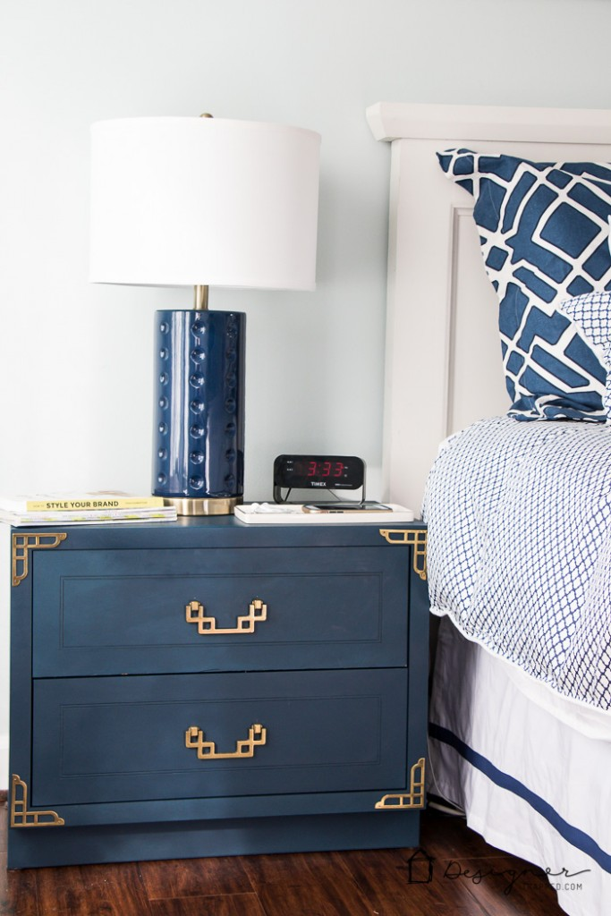 DIY Furniture Makeover! BEAUTIFUL Campaign Bedside Table Makeover! This  Blogger Scored An Entire Furniture